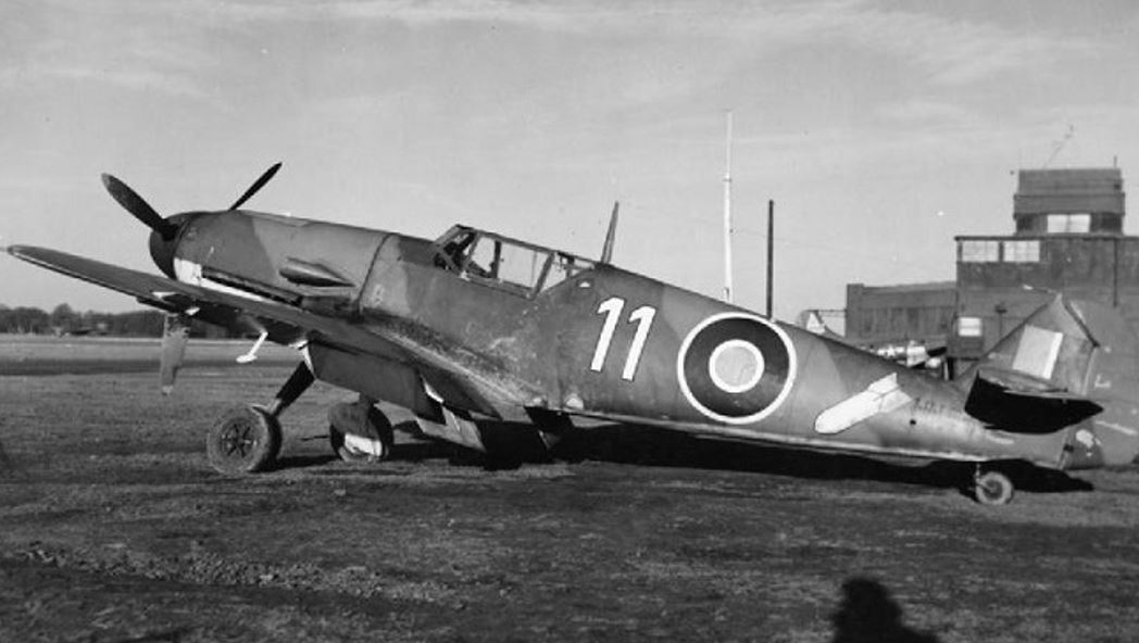 NN644 – A Messerschmitt 109F-4/B piloted by Oswald Fischer of 10/JG 26 who was shot down near Beachy Head by anti-aircraft fire while attacking a Royal Navy vessel in May 1942. NN644 was later scrapped.